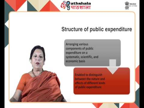 Pure theory of public expenditure: structure and growth of public expenditure (ECO)