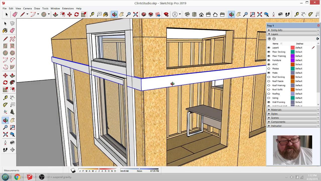 Clint's Backyard Studio - Ep 5 - Dividing Siding Option ... on Sketchup Backyard id=92480
