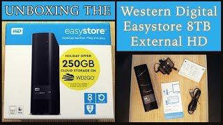 Unboxing: Western Digital EasyStore 8TB External Hard Drive