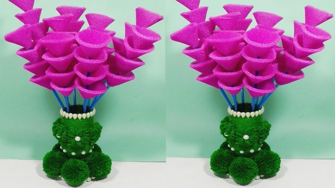 Diy Guldasta From Waste Plastic Bottle By Knitter