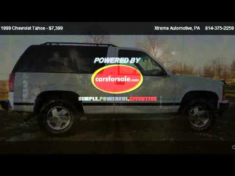 1999 Chevrolet Tahoe 2-Door 4WD - for sale in DuBois, PA ...