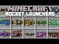 Minecraft ROCKET LAUNCHERS MOD! | CRAFT NUCLEAR LAUNCHERS TO BATTLE BOSSES! | Modded Mini-Game