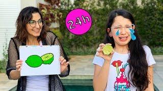 24 HORAS SÓ COMENDO COMIDAS QUE DESENHAMOS | Luluca
