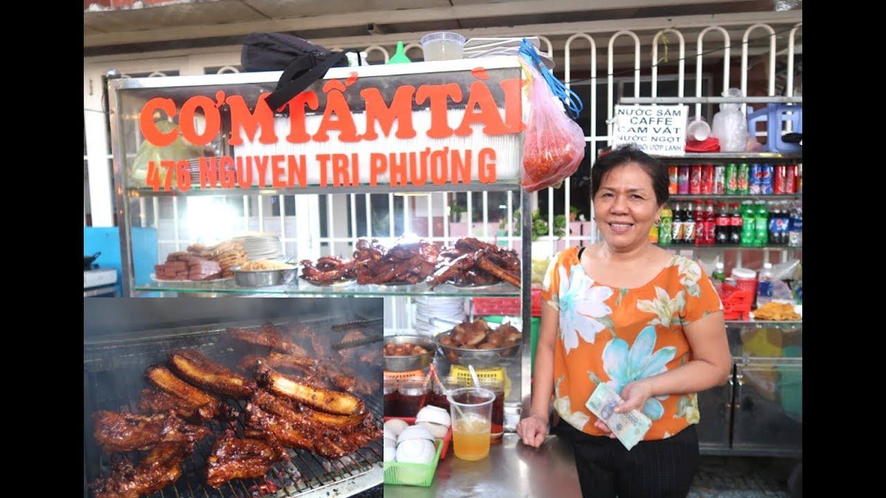 Phát hiện quán cơm tấm sườn cọng cực chất ở Sài Gòn, bà chủ cầm sấp tiền thấy ham