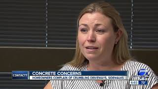 Arvada residents upset over crumbling concrete at new-build homes thumbnail
