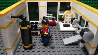 LEGO САМОДЕЛКА #20 | Cпортзал / Gym(Всем привет! Перед вами серия самоделок, в которых показано, как построить ту или иную комнату для вашего..., 2015-07-20T12:29:16.000Z)