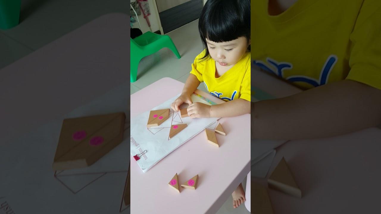 วิธีวาง tangram ง่ายๆกับหนูนัตตี้  youtube