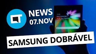 Display dobrável da Samsung; Linha Nexus chega ao fim e + [CT News]