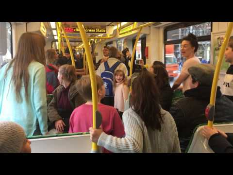THE LONELY GOATHERD on YARRA TRAMS  24 JUNE MELBOURNE 2016