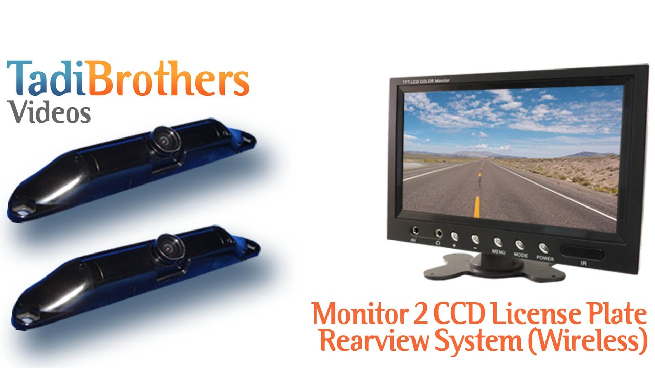 Backup Camera Systems with 2 Wireless CCD License Plate cameras from ...