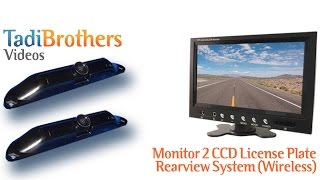 backup camera systems with 2 wireless ccd license plate cameras from www tadibrothers com
