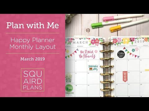 Смотрите сегодня видео новости March Spring Spread :: Plan with Me :: Happy  Planner Monthly Layout на онлайн канале Russia-Video-News Ru