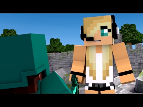 "Minecraft Song 1 Hour Version ""Fight Like A Girl"" Psycho Girl 3 - Psycho Girl VS Little Square Face"