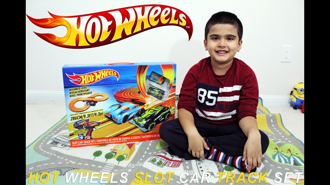 Hot Wheels Electric Slot Car Track Set Unboxing Review Testing
