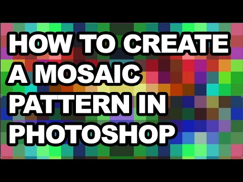 Create mosaic pattern in Photoshop tutorial thumbnail