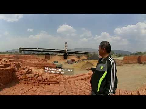 360 VIDEO: Quake helps clear filthy air over Nepal's brick kilns