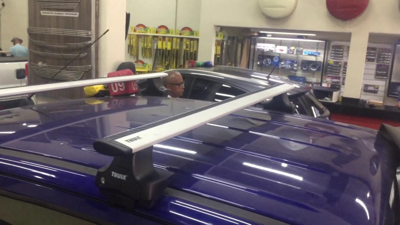 ford ranger 2017 - rack thule wingbar - rack thule