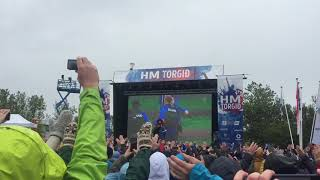 Iceland viking clap live from reykjavik: after 2018 fifa world cup isl 1:1 arg