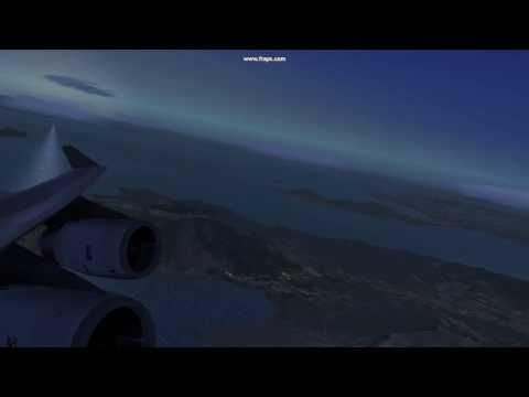 FSX Ultra High Graphics PMDG 747 Departure Hong Kong