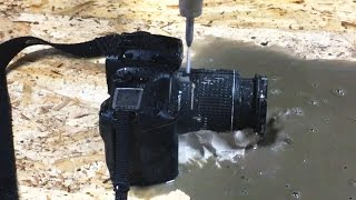 Cutting An SLR Camera With A 60,000 PSI Waterjet