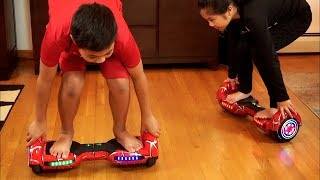 Try This! Hoverboard Fun Ride | Riding and Dancing on Self Balancing Electric Scooters