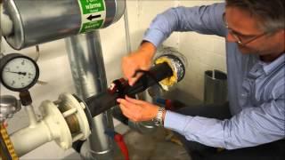 Wärmemengenmessung an einer Fernwärmeleitung mit Ultraschall-Wärmezähler