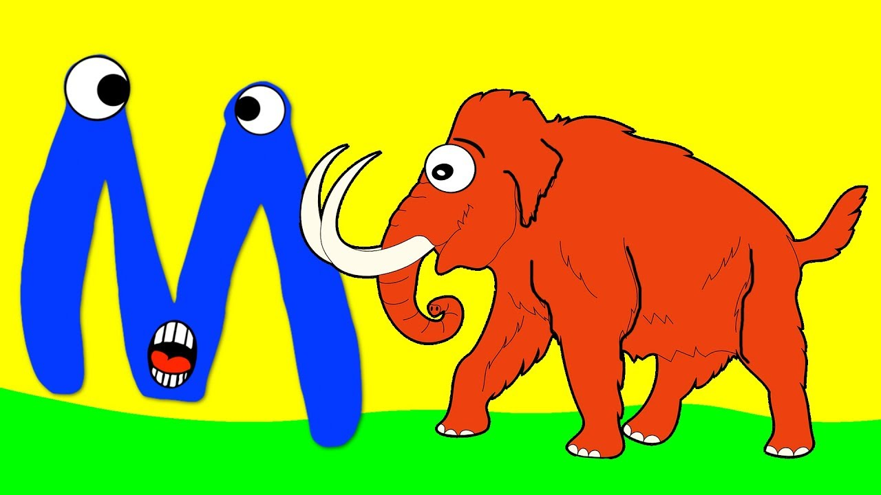 Learn the Alphabet Animals - Letter M - MAMMOTH
