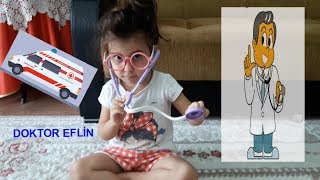 Doktorculuk Oyunu Oynadık Doktor İğne Yaptı Eflin Hiç Ağlamadı The Boo Boo Story from Eflin and Baba