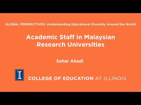 Academic Staff in Malaysian Research Universities