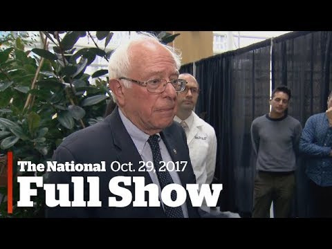 The National: Sunday, October 29, 2017| Bernie Sanders on Canadian healthcare, opioid warnings