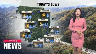 [Weather] Chilly start, dress warmly on your way out