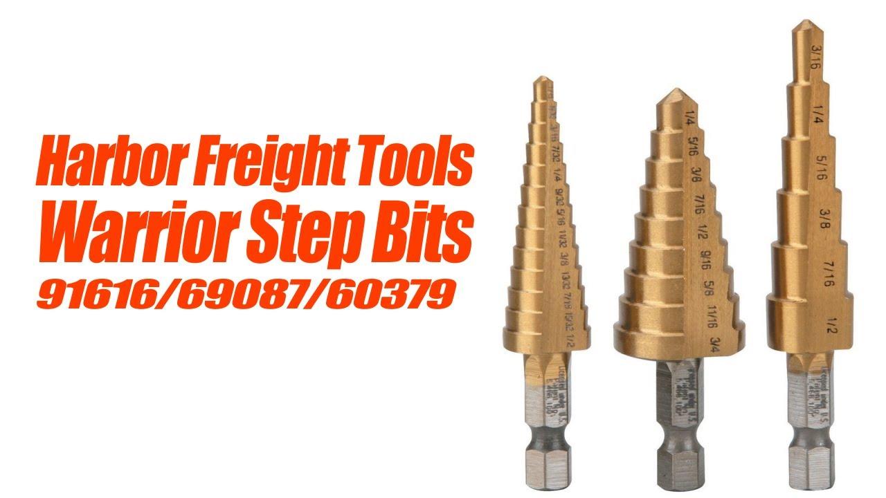 Szliyands 3PCS High Speed Steel HSS Titanium Step Drill Bit Set Quick-change 1//4 Hex Shank SAE Total 28 Sizes