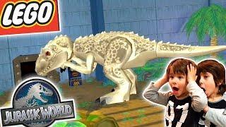 LEGO JURASSIC WORLD Dani y Evan! ENCONTRAMOS AL INDOMINUS REX!! Juegos y Aplicaciones para niños