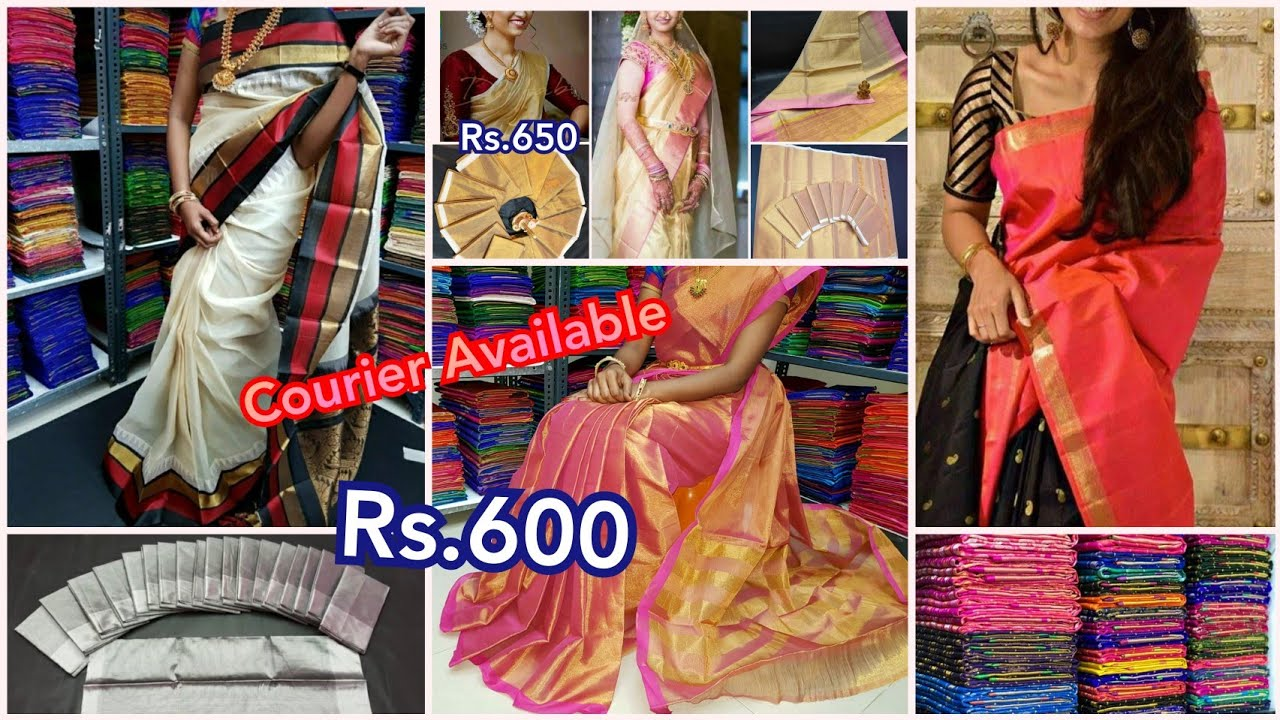 Pure Handloom Uppada pattu & Cotton sarees with Best Price | Courier Available