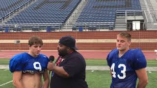 Joshua RB/LB Justis Chaney and S Jacob Hughes 5 13 2018