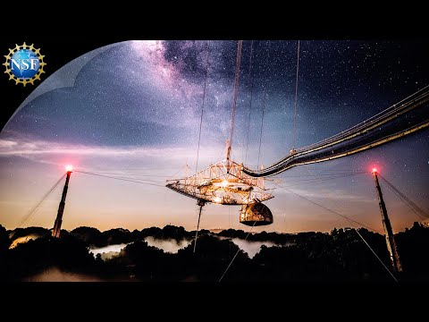 Footage of Arecibo Observatory telescope collapse