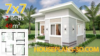 Small House Design Plans 7x7 With 2 Bedrooms
