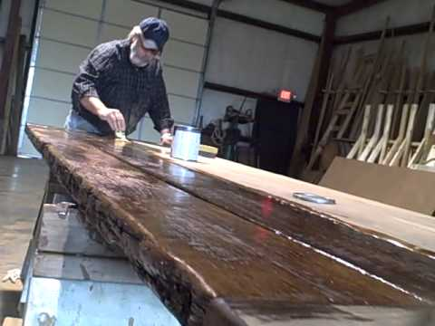 Finishing up a reclaimed oak tabletop- Tennessee Wood Flooring - Finishing Up A Reclaimed Oak Tabletop- Tennessee Wood Flooring