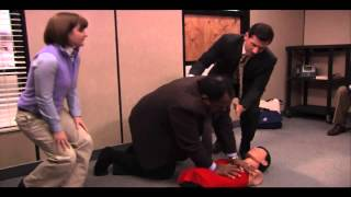 The Office CPR Complete scene.