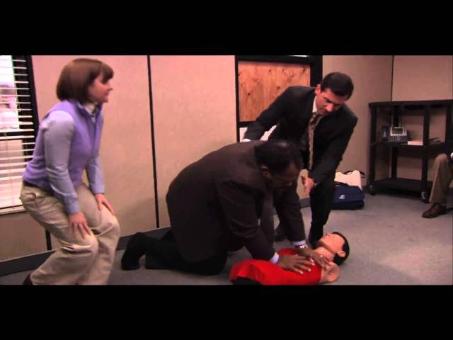 The office dummy scene
