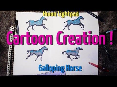 Create Horse Pixel Art Animation !