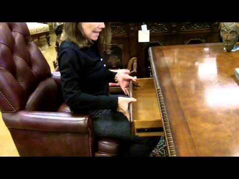 Hooker Seven Seas Furniture desk vintage executive desk antique furniture style.