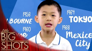 Evan Recites Every Olympic City Throughout History | Little Big Shots