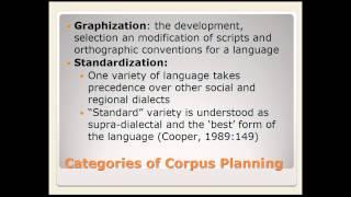 Week 8 Lecture: Language Planning Part 2