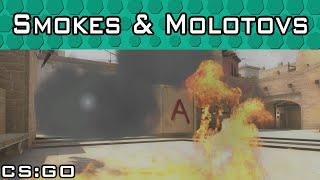 Mirage A Site Smokes & Molotovs