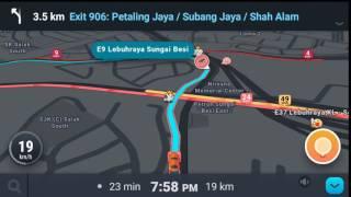 Driving with Waze - Cheras to Subang via KESAS