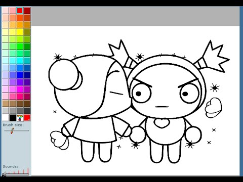 Pucca Coloring Pages For Kids  Pucca Coloring Pages Games  YouTube