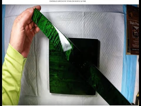 Emerald Green Stain Made With Dye For Wood - Bright Emerald Green Dye