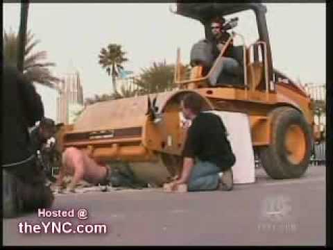 Criss Angel-The Steamroller illusion