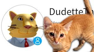 MAKING DUDETTE THE CAT A ROBLOX ACCOUNT!!